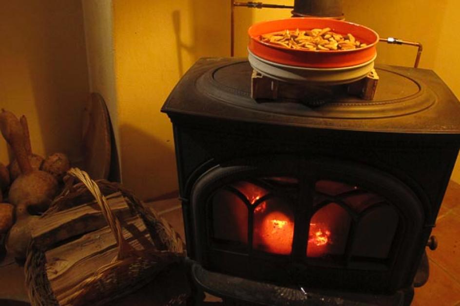 Séchage au «coing» du feu